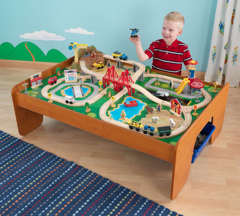 KidKraft Ride Around Town Train Set with Table - 17836 -  Kid Kraft Pretend Play - Nurzery.com