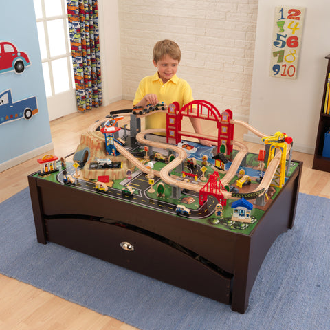 KidKraft Metropolis Train Table and Set - 17935 -  Kid Kraft Pretend Play - Nurzery.com