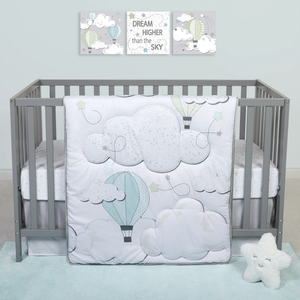 Sammy & Lou® - Starry Dreams - 4 Piece Crib Bedding Set