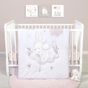 Sammy & Lou® - Cottontail Cloud - 4 Piece Crib Bedding Set