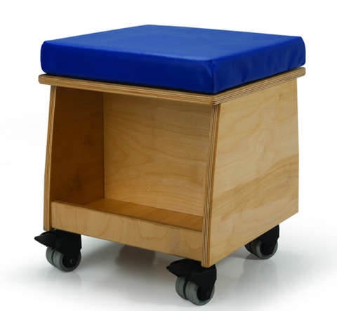 Whitney Brothers-Rolling Teacher Stool- Natural UV-WB0096 -  Whitney Bros Teacher Seating - Nurzery.com