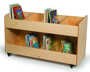 Whitney Brothers-8 Section Mobile Book Storage Cabinet- Natural UV-WB0296 -  Whitney Bros Teacher Mailbox - Nurzery.com - 1