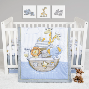 Sammy & Lou® - Noah's Ark - 4 Piece Crib Bedding Set