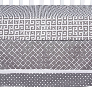 Trend Lab® - Ombre Gray - 5 Piece Crib Bedding Set
