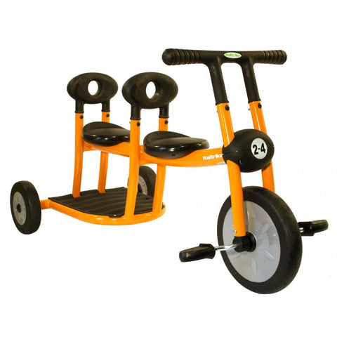 Italtrike Pilot 200 2 Seat Tricycle Orange 200-10 -  Italtrike Ride-On Toys - Nurzery.com - 1