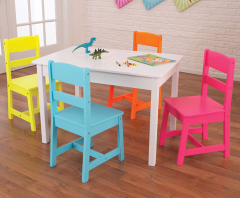 KidKraft Highlighter Table & 4 Chair Set - 26324 -  Kid Kraft Pretend Play - Nurzery.com