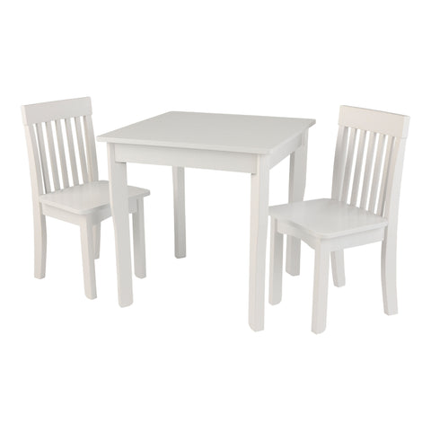 KidKraft Square Table & 2 Avalon Chair Set White - 26644 -  Kid Kraft Pretend Play - Nurzery.com - 1