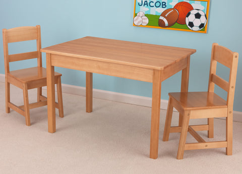 KidKraft Rectangle Table & 2 Chair Set- natural - 26681 -  Kid Kraft Pretend Play - Nurzery.com