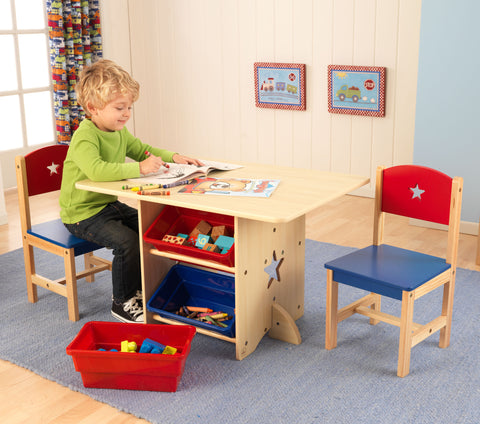 KidKraft Star Table & 2 Chair Set - 26912 -  Kid Kraft Pretend Play - Nurzery.com