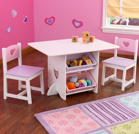 KidKraft Heart Table &  2 Chair Set - 26913 -  Kid Kraft Pretend Play - Nurzery.com