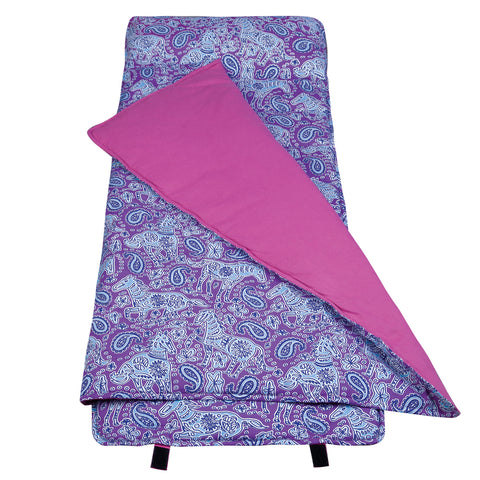 Watercolor Ponies Purple Nap Mat - 28311 -  Olive Kids Nap Mats - Nurzery.com