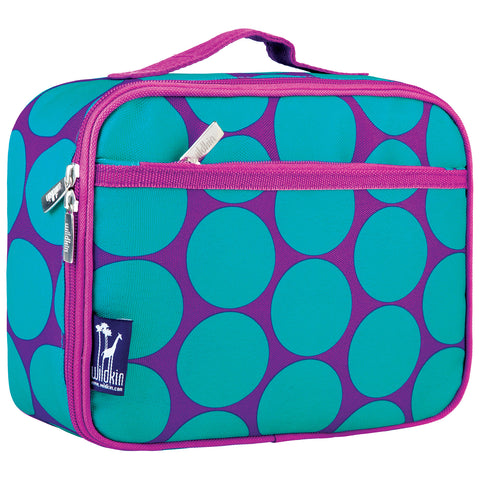 Big Dot Aqua Lunch Box - 33119 -  Olive Kids Lunch Bags - Nurzery.com