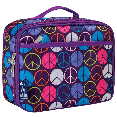 Peace Signs Purple Lunch Box - 33212 -  Olive Kids Lunch Bags - Nurzery.com