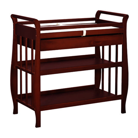 AFG Nadia Sleigh Changing Table - 3353 - Cherry AFG Furniture International Nursery Furniture - Nurzery.com - 1