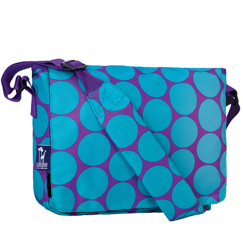 Big Dot Aqua Kickstart Messenger Bag - 41119 -  Olive Kids Messenger Bags - Nurzery.com