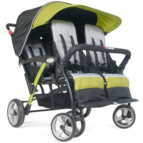 Foundations Quad Sport 4-passenger Stroller Lime - 4141299 -  Foundations Strollers - Nurzery.com