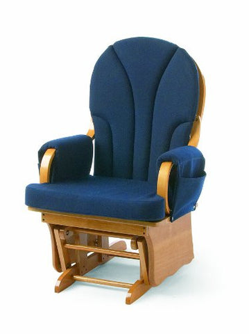 Foundations Lullaby Adult Glider Rocker Natural/Blue - 4201046 -  Foundations Glider - Nurzery.com