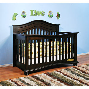 AFG Jordana Lia 3-in-1 Baby Crib w/ Free Mattress - 4688 - Espresso AFG Furniture International All Cribs - Nurzery.com - 3