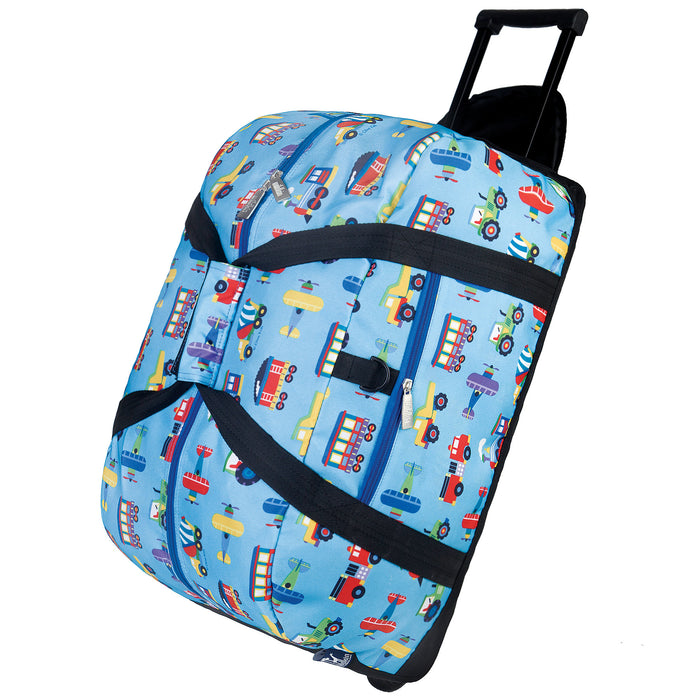 Olive Kids - Trains, Planes & Trucks Rolling Duffel Bag - 51079