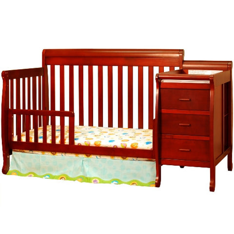 AFG Kimberly 4-in-1 Convertible Crib and Changer Combo - 518 - Cherry AFG Furniture International All Cribs - Nurzery.com - 1