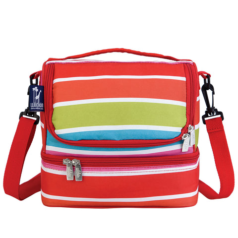 Bright Stripes Double Decker Lunch Bag - 52314 -  Olive Kids Lunch Bags - Nurzery.com