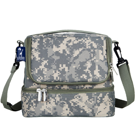 Digital Camo Double Decker Lunch Bag - 52403 -  Olive Kids Lunch Bags - Nurzery.com