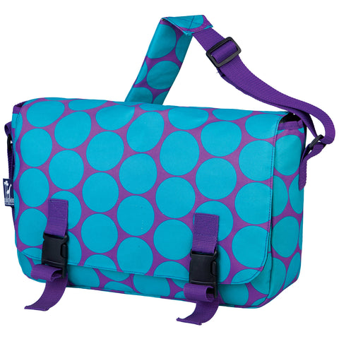Big Dot Aqua Jumpstart Messenger Bag - 54119 -  Olive Kids Messenger Bags - Nurzery.com