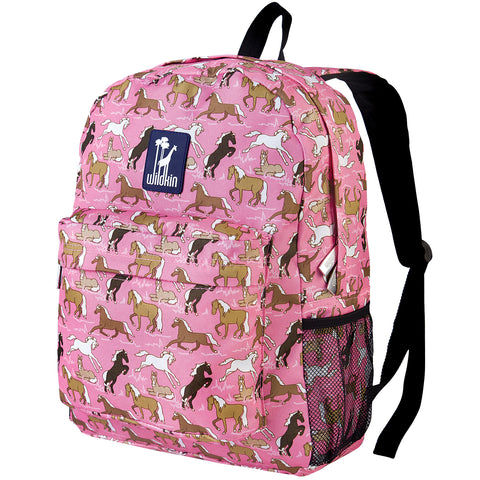 Horses in Pink Crackerjack Backpack - 57020 -  Olive Kids Backpacks - Nurzery.com