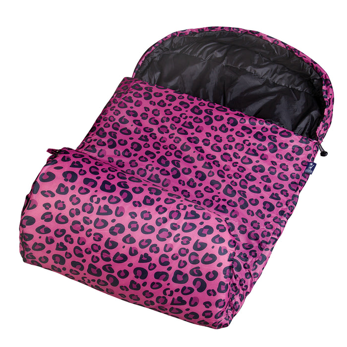 Wildkin - Pink Leopard Stay Warm Sleeping Bag - 59214