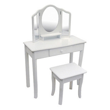 Guidecraft Classic White Vanity and Stool - G85710 - Default Title Guidecraft Toys - Nurzery.com