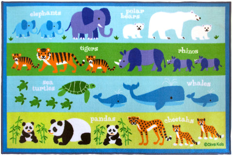 Olive Kids Endangered Animals 39x58 Rug - 600416 -  Olive Kids Rugs - Nurzery.com