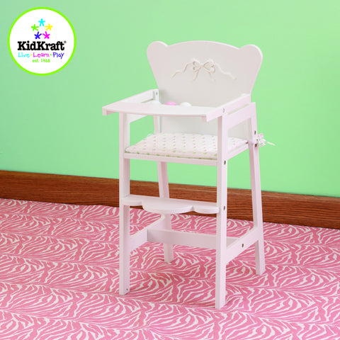 KidKraft Tiffany Bow Lil' Doll High Chair (accommodates American Girl® dolls) - 61111 -  Kid Kraft Pretend Play - Nurzery.com