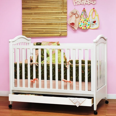 AFG Jeanie Convertible Crib w/ Drawer #611 -  AFG Furniture International All Cribs - Nurzery.com - 1