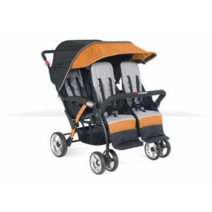 Foundations Baby Infant Carrier Quad Sport 4-Passenger Stroller Orange - 4141309 -  Foundations Strollers - Nurzery.com
