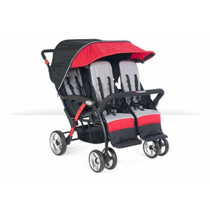 Foundations Baby Infant Carrier Quad Sport 4-Passenger Stroller Red - 4141079 -  Foundations Strollers - Nurzery.com