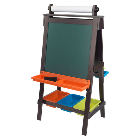 KidKraft Storage Easel - Espresso - 62043 -  Kid Kraft Pretend Play - Nurzery.com - 1