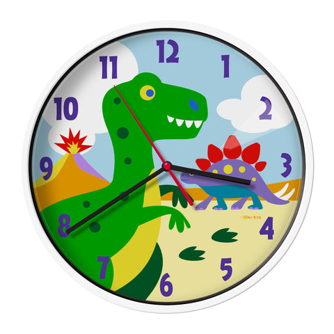 Olive Kids Dinosaur Land Wall Clock - 623412 -  Olive Kids Clocks - Nurzery.com
