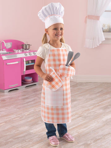 KidKraft Tasty Treats Chef Access Set Pink - 63196 -  Kid Kraft Pretend Play - Nurzery.com