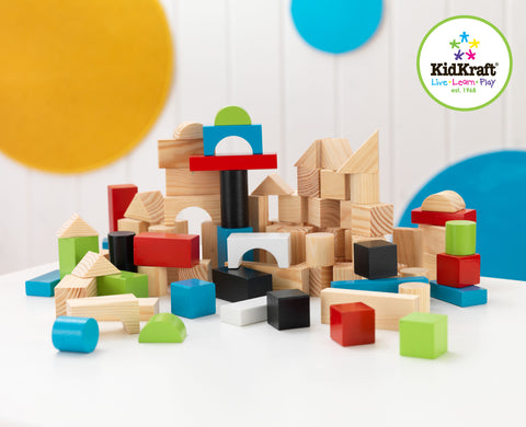 KidKraft Wooden Block Set - 63242 -  Kid Kraft Pretend Play - Nurzery.com