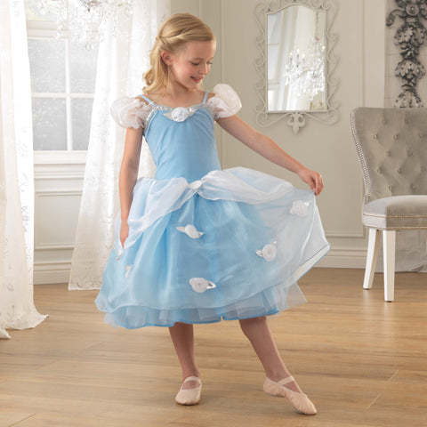 KidKraft Dress-Up Blue Rose Princess Costume Dress - Small Kid Kraft Pretend Play - Nurzery.com