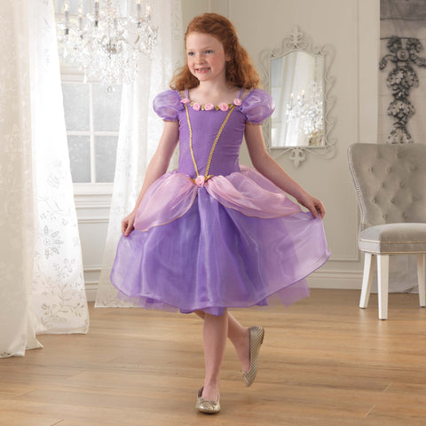 KidKraft Dress-Up Purple Rose Princess Costume Dress -  Kid Kraft Pretend Play - Nurzery.com
