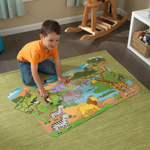 KidKraft Floor Puzzle – Safari - 63433 -  Kid Kraft Pretend Play - Nurzery.com
