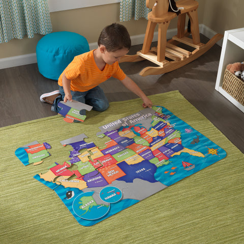 KidKraft Floor Puzzle - Map of the USA - 63434 -  Kid Kraft Pretend Play - Nurzery.com