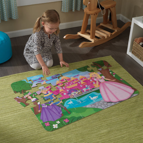 KidKraft Floor Puzzle – Princess Castle - 63435 -  Kid Kraft Pretend Play - Nurzery.com - 1