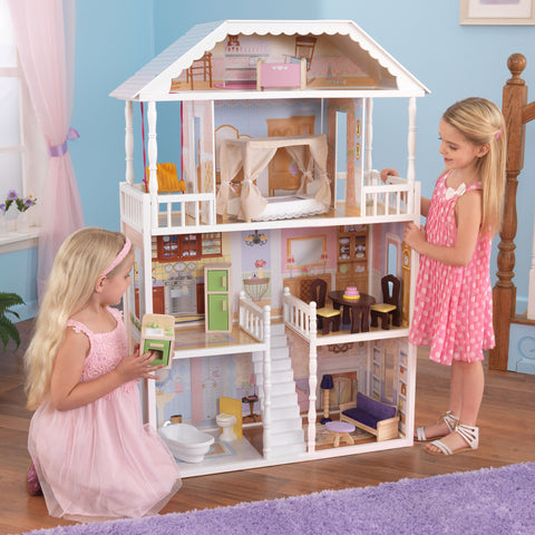 KidKraft New Savannah Dollhouse with furniture - 65023 -  Kid Kraft Pretend Play - Nurzery.com