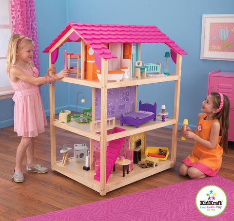 KidKraft So Chic Dollhouse with Furniture - 65078 -  Kid Kraft Pretend Play - Nurzery.com - 1