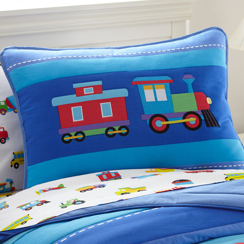 Olive Kids Trains, Planes, Trucks Pillow Sham - 65410 -  Olive Kids Bedding - Nurzery.com