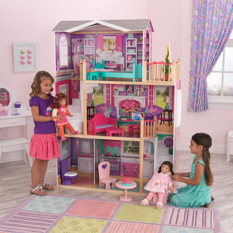 "KidKraft Elegant 18"" Doll Manor with Furniture - 65830 -  Kid Kraft Pretend Play - Nurzery.com"