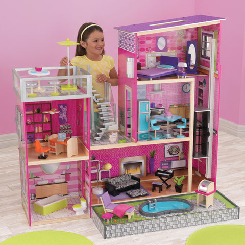 KidKraft Uptown Dollhouse with Furniture - 65833 -  Kid Kraft Pretend Play - Nurzery.com