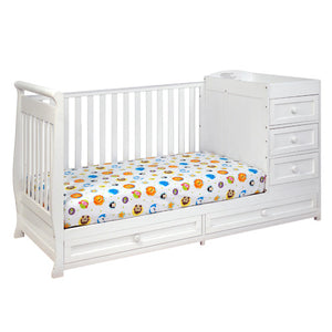 AFG Daphne I 2-in-1 Convertible Crib and Changer Combo - 662 - White AFG Furniture International All Cribs - Nurzery.com - 3